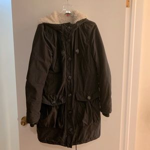 H&M Lined Utility Jacket Size 6